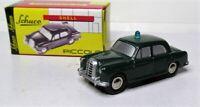 Schuco Piccolo 1:90 Mercedes Benz 180 Ponton Polizei OVP 01652 grün