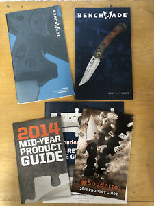 Benchmade 2006; Benchmade 2020; Spyderco 2014 Knife Catalogs, Price MSRP, Poster