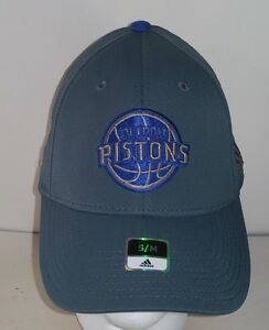 Detroit Pistons Gray Adidas Fitted NBA S/M Hat  NEW