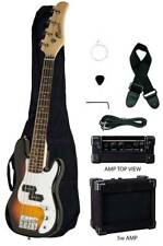 "RAPTOR 38"" Kid's Junior Electric P Bass Package - SUNBURST w/ Amp Bag Cable Pick"