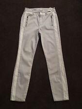 NWT Women Abercrombie Fitch Skinny Jean Khaki Pants Legging 4 Tan White Gray $88