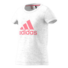 T-shirt per Bambina adidas da Ragazza Maglia Maglietta Bianco Rosa 9-10 anni