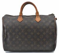 Authentic Louis Vuitton Monogram Speedy35 Hand Bag M41524 LV B4060