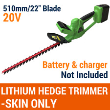 """SKIN ONLY 20V Cordless Hedge Trimmer Lithium-Ion Electric Garden Tool 22""""/510MM"""