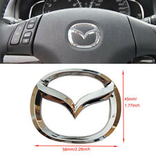 Steering Wheel Chrome Logo Emblem MAZDA 2 3 CX3 CX5 badge decal 5.3 x 6.6 cm ABS