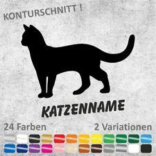 Katze mit/ohne Wunschname Aufkleber Sticker Autoaufkleber
