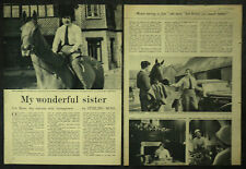 Candid Pat Moss Carlsson Show Jumping Rally Driving 1955 2 Page Photo Article