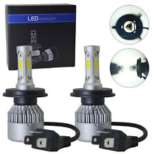 2 x H4 led 72W 16000LM S2 Headlight Car Hi/Lo Beam Auto Bulbs 6000K White