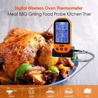 Wireless Remote Digital Cooking Food Probe Meat Thermometer For Grill Oven BBQ