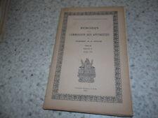 1935.Mémoires de la commission des antiquités de la Cote-d'Or.dijon..