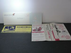 Vintage 1969 Cleveland Indians Yearbook Mail Order + Decal + Parade Program