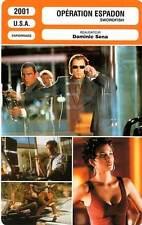 FICHE CINEMA : OPERATION ESPADON - Travolta,Jackman,Berry,Sena 2001 Swordfish