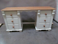 REGENCY PAINTED DOUBLE DRESSING TABLE SOLID PINE SOLID OAK HAND MADE BESPOKE