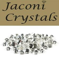 100 x 6mm JACONI Clear Glass Loose Round Flat Back Crystal Body Vajazzle Gems
