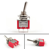 Mini 6mm MTS-102 Toggle Switch 3 Pin 2 Position SPDT ON-ON 5A/125VAC 2A/250VAC