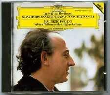 CD Maurizio POLLINI : Beethoven Piano concerto N° 1 / DGG Digital, full silver