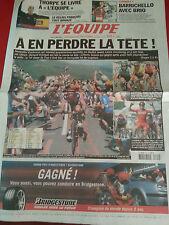 journal  l'équipe 21/07/2003 CYCLISME TOUR DE FRANCE 2003 VINOKOUROV SIMONI