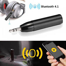 Wireless Bluetooth4.1 Mini Bullet 3.5mm Car Aux Music Receiver Audio Adapter Mic
