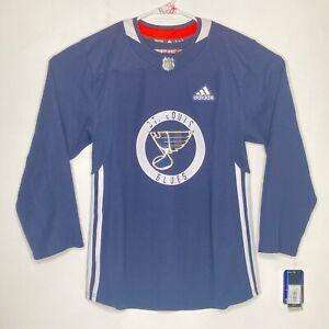 Adidas Authentic NHL St. Louis Blues Practice Jersey Vladimir Tarasenko Size 46