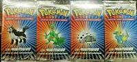 Sealed 4x Ex Ruby & Sapphire Booster Packs Art Set Pokemon Cards Vintage Spanish