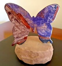 Butterfly on a Rock Modern Art Metal on Stone Unusual Collectable Transformation
