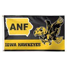 IOWA HAWKEYES ANF HERKY MASCOT 3'X5' DELUXE FLAG BRAND NEW WINCRAFT