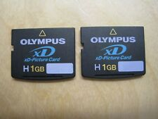 Lot of 2 Olympus H 1GB xD Picture Memory Card (MXD1GH3)