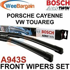 PORSCHE CAYENNE & VW TOUAREG Genuine BOSCH A943S Aerotwin Front Wiper Blades Set