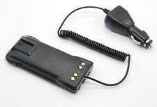 Car Radio Battery Eliminator + Charger for Motorola GP340 GP328 GP380 radio