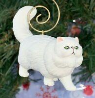 """Beautifully Detailed Safari Persian Cat 2.5"""" PVC Custom Christmas Tree Ornament"""