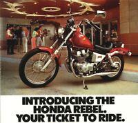 KITCHEN GARAGE BAR VINTAGE LOOK SIGN HONDA REBEL MOTORCYCLE