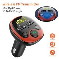 KFZ Bluetooth FM Transmitter Auto Radio MP3 Player Dual USB Ladegerät Adapter DE