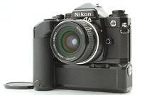【NEAR MINT+5】 Nikon FE2 SLR Black + MD-12 , Ai Nikkor 24mm f/2.8 from Japan