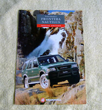 Vauxhall Frontera Nautilus Estate Special Edition May 1994
