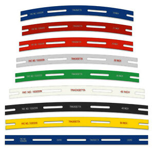 Track Laying Templates, straight & curves Tracksetta - OO/HO gauge