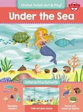 Under the Sea: Interactive fun with reusable stickers, fold-out play scene, and