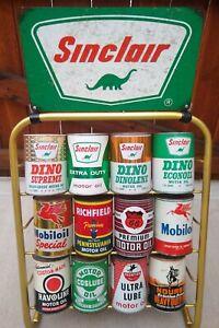 Sinclair, Veedol, Tydol, 12 Quart Motor Oil Can Display Rack Vintage Style