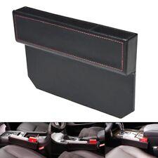 1XPU Leather Car Seat Storage Box Catcher Gap Filler Console Side Pocket Holder
