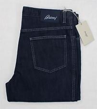 NWT Brioni Marmolada Dark Navy Blue Mens Denim Jeans Straight Leg 50 eu 34 US
