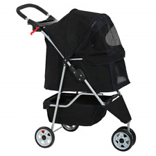 BestPet New Pet Stroller Cat Dog Cage 3 Wheels Stroller Travel Folding Carrier