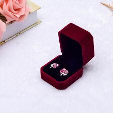 Velvet Engagement Wedding Earring Ring Pendant Jewelry Display Chic Box Gift D