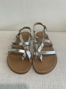 JOHNNY WAS MIA ITALIAN LEATHER SANDAL SIZE 37 NEW WITH BOX