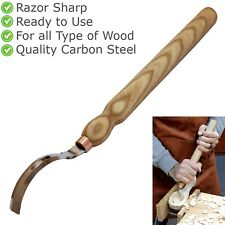Wood Carving Double-Edged Hook Knife Craft Long Handle Crooked Hand Tool SK3