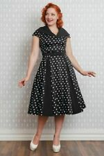 Miss Candyfloss 1950s Inspired Damiana Lou Black Swing dress
