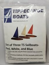 1987 Tippecanoe T5 Sailboats Set of 3 (Red, White, and Blue) Model Wooden