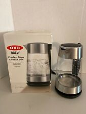 OXO BREW 1.75 Liter Cordless Glass Electric Kettle Instant Hot Water Boiler LED