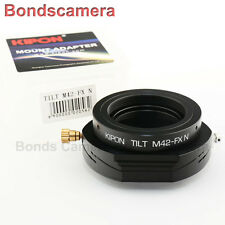 Kipon Tilt M42 screw mount lens to Fujifilm Fuji X-Pro1 FX Adapter T10 T1 E2 E1