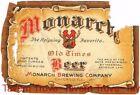 1930s U-Permit Chicago MONARCH OLD TIMES BEER IRTP 12oz Label