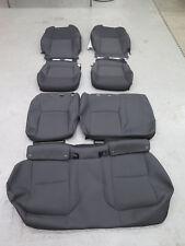 2018 Toyota C-HR Black cloth OEM Gray cloth seat cover set