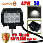 "42W 4""INCH 5D OSRAM LED FLOOD Work Light Bar Offroad Driving Lamp 4WD SUV ATV"